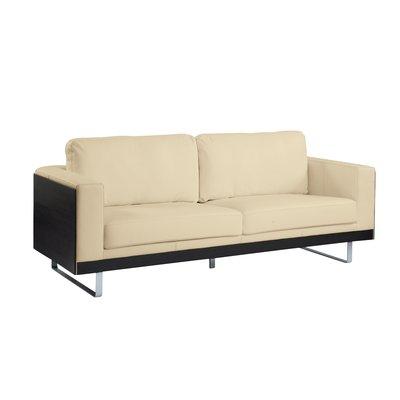 Groovy Firenze Leather Three Seater Sofa Dark Oak And Cream Amazon Inzonedesignstudio Interior Chair Design Inzonedesignstudiocom