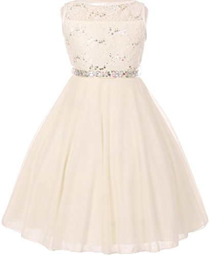 Ivory Embroidered Taffeta Dress - 1