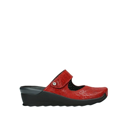 Wolky Comfort Sabots Up 70500 Cuir Rouge