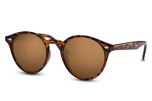 Cheapass Miroitant Sunglasses Femmes Lunettes 014 Rondes Rétro Marron Hommes Brun Connaisseur Noir Ca RrrXqxF