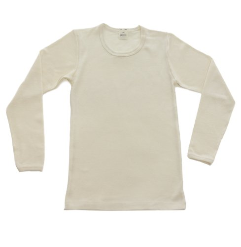 Price comparison product image Big Girls Wool-Silk Long-Sleeved Undershirt, Natural White, s. 152/12 yr