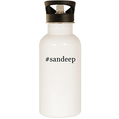#sandeep - Stainless Steel Hashtag 20oz Road Ready Water Bottle, White