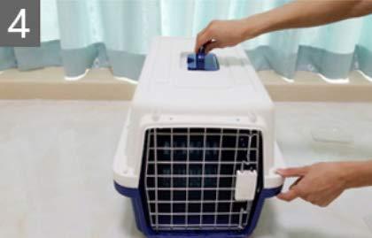 Lppanian Transportin Perro Mascota Caja De Airede Transporte Gato con La Caja De Env/ío De Aire Caja Canina Grande para Gatos Port/átil