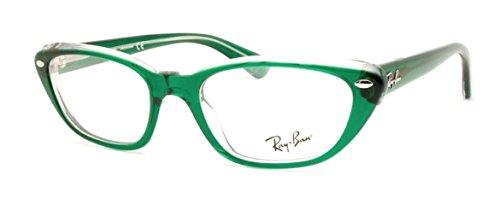 Ray-Ban Women's RX5242 Eyeglasses Top Dark Green On Transp - Ban Frames Ray Green