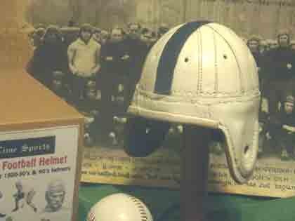 (Mini Penn State Leather Football Helmet (1940s))