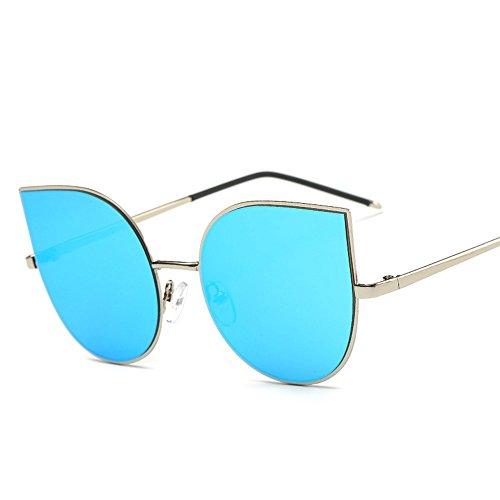 6 de de cara Shop Gafas metálica moda de sol personalidad gafas de sol de sol de gafas Gafas de redonda Uno sol sombrilla HREwqwKdrF