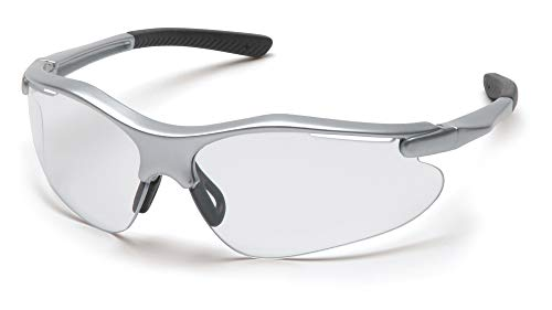 Pyramex Fortress Clear Lens Silver Frame Safety Glasses One Pair (Best Looking Safety Glasses)