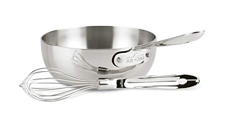 (All-Clad 4212 Stainless Steel Saucier Sauce Pan Cookware, 2-Quart, Silver )