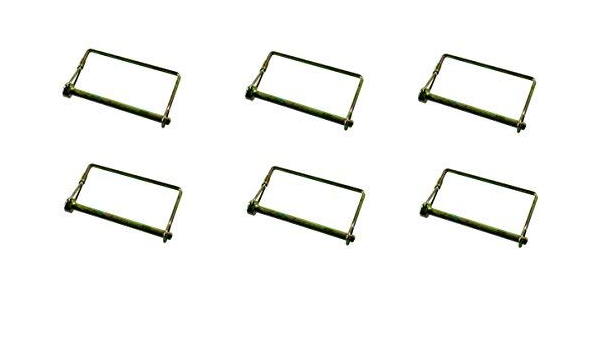 "JR Products 01284 1//4/"" x 3/"" Zinc Plated Safety Lock Pin"