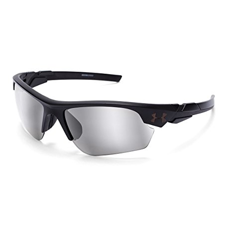 Under Armour UA Windup Wrap Sunglasses, UA Windup Satin Black / Black Frame / Gray Multiflection Lens, 58 - Hot Sunglasses 2017