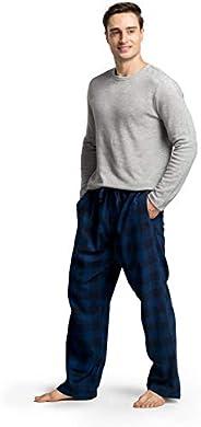 CYZ Men's Holiday Pajama Gift Set Cotton Rib Shirt with Flannel Pajama P
