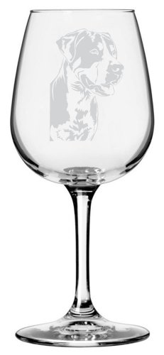 Greater Swiss Mountain Dog Themed Etched All Purpose 12.75oz Libbey Wine Glass (Swiss Art)