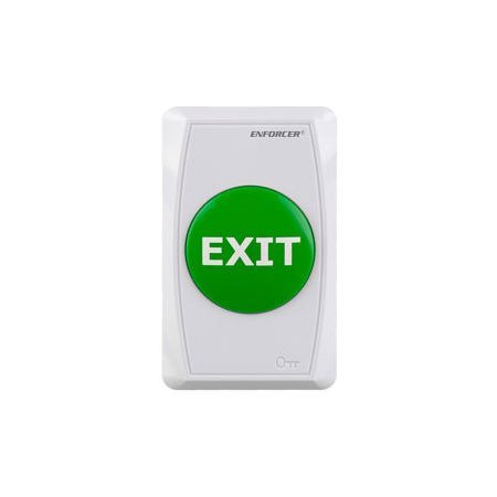 SD-7286-GWQ Seco-Larm Green Button Single-Gang Flush Mount Request-To-Exit Plate