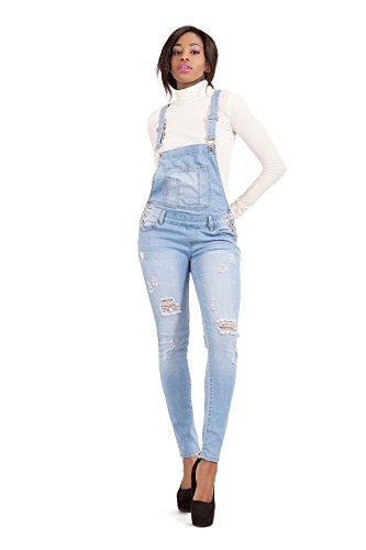Bleu bleu Femme Jeans Salopette LustyChic STnx7zw0B