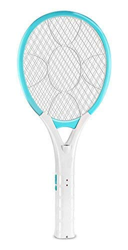 AOWOTO Plug in Electric Rechargeable Bug Zapper Mosquito Insect Fly Swatter  Racket with Battery - Blue