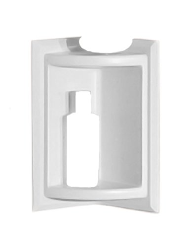 Swanstone SS-7211-010 Corner Soap Dish, White Finish