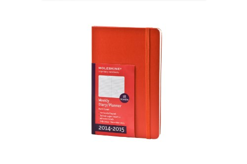 Moleskine 2014-2015 Weekly Planner, Horizontal, 18 Month, Large, Red, Hard Cover (5 x 8.25) (Moleskine Diaries)