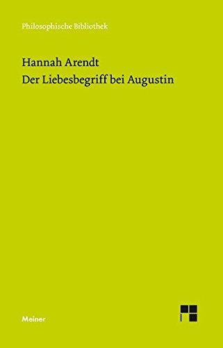 Der Liebesbegriff bei Augustin: Versuch einer philosophischen Interpretation