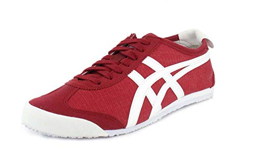 Tiger Womens Cap - Onitsuka Tiger Unisex Mexico 66 Classic Red/White Sneaker - 13