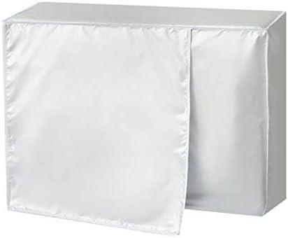 Fundas de aire acondicionado para exteriores de invierno A prueba de sol a prueba de polvo Cubierta de aire acondicionado para protecci/ón contra congelaci/ón Durable Resistente al agua para el hogar
