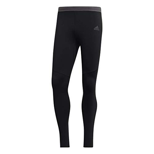 adidas Men's Running Response Climawarm Tights, Black/Black, Small