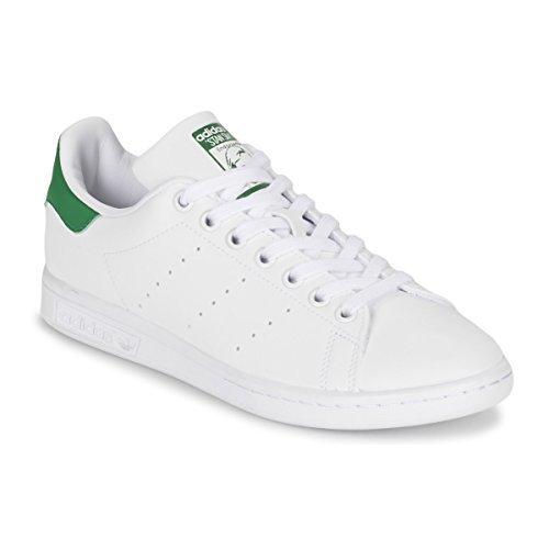 adidas Originals Women's Stan Smith Footwear White/Footwear White/Green Athletic Shoe by adidas Originals