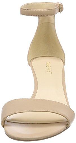 Sandalen Goldbeige West Leisa nackt kaum mit Knöchelriemen Neun Damen 1ntqTf1wY