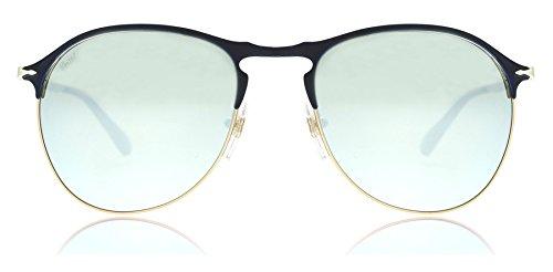 Persol Unisex PO7649S56-Z Blue/Bronze/Light Green Mirror Silver - Keyhole Sunglasses Persol