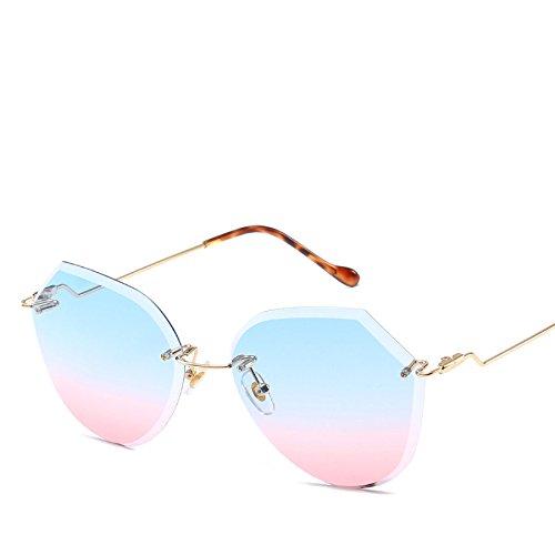 Gafas Gradiente Película N08 Sol Marco NO4 Sol Sin Playa Gafas Dama De Poligonal Viaje Oceánica De Visor RinV 4q0n85Uw