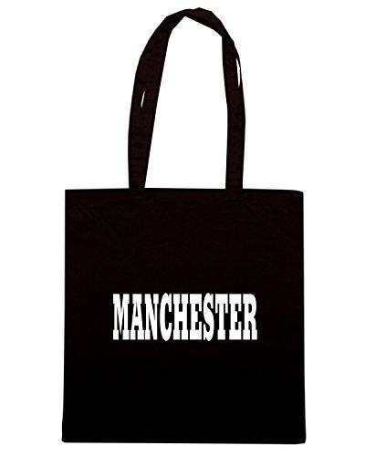 T-Shirtshock - Bolsa para la compra WC0702 MANCHESTER Negro