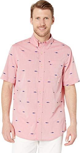 Chaps Men's Fashion-Short Sleeve-Sport Shirt Red ()