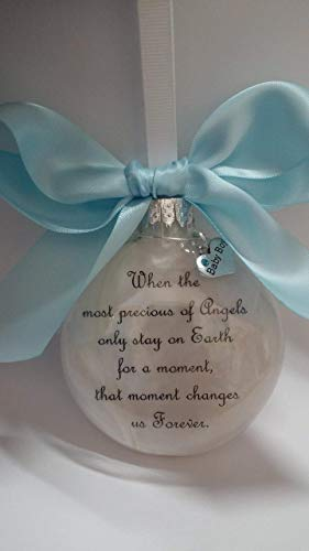 Baby Boy Memorial Ornament - The Most Precious of Angels with Charm - In Memory of Infant Loss Sympathy Gift