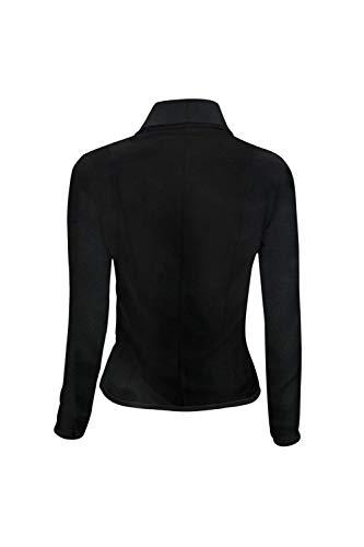 Tailleur Women Giacca Vintage Slim Colori Giacche Autunno Casual Manica Con Primaverile Da Misti Nero Donna Giovane Eleganti Lunga Blazer Moda Fit Button Tasche Cappotto qBOdEqp
