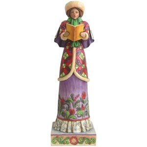 Jim Shore Heartwood Creek Woman Caroler Christmas Figure #4005327