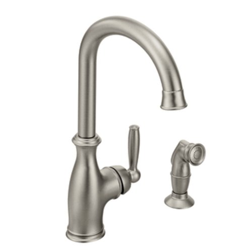Moen 7735CSL Brantford One-Handle High Arc Kitchen Faucet, Classic Stainless
