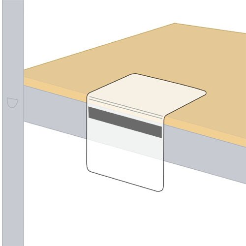 StoreSMART - Bookshelf & Warehouse Tag / Label Holders - 4'' x 5'' - with Magnetic Strip for Front of Metal Shelf - 100-Pack - SPC1359M2-100