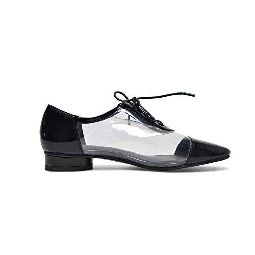 Negro Con Viaje Mujer Para Uretano Lazos 1to9 Sólidos Mms06552 Zapatos De UvWAXqfp