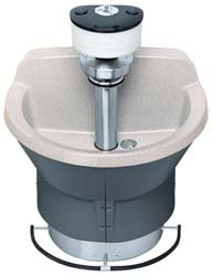 Semi Circular Wash Fountain - Wash Fountain 36 in Wide Semi Circular