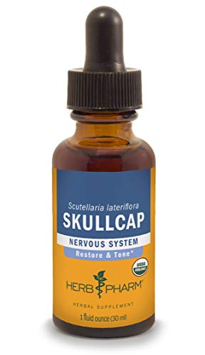 Herb Pharm Certified Organic Skullcap Liquid Extract for Nervous System Support - 1 Ounce