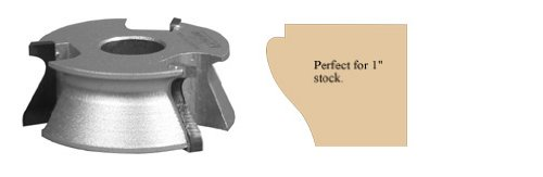 Infinity Tools 83-170, Cabinet Door Edge & Decorative Profile Shaper Cutter, 3/4'' Bore