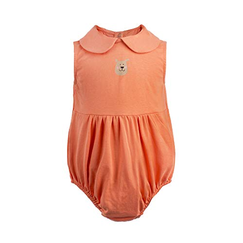 COTTON FAIRY Newborn Baby Girl Romper Peter Pan Collar Sleeveless Bodysuit Summer Outfits,6-9 Months, -