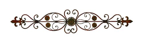 - Deco 79 80052 Fleur-de-Lis and Scrollwork Classic Wall Decor, 56