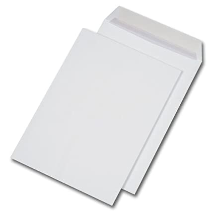 250 St Versandtaschen extra stark 120 gr DIN A4 C4 weiß ohne Fenster HK