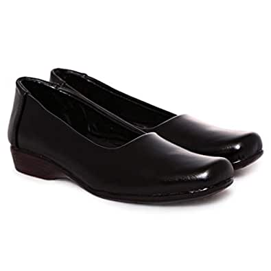 Lemex Black Flat For Women