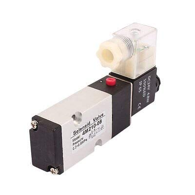 4M210-08 DC 12V 2 Position 5 Way RC1//4 Neutral Air Selector Solenoid Valve
