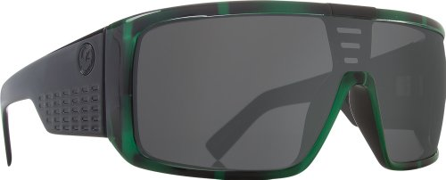 Dragon Sunglasses Domo Large Fit Eyewear - Dragon Alliance Men's Casual Shades - Green Stripe/Grey / One Size Fits - Dragon Sunglasses Domo