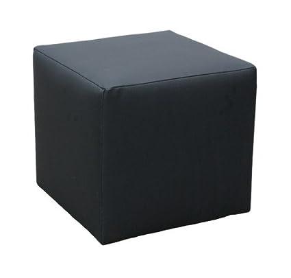 Fabulous Black Faux Leather Cube Footstool Stool Amazon Co Uk Creativecarmelina Interior Chair Design Creativecarmelinacom