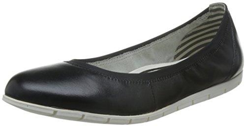 Tamaris Ballerinas Silber Schwarz (Black Leather 003)