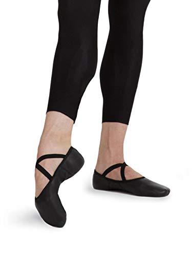 Capezio Men's Leather Romeo Ballet Shoe,Black,14 W US (Mens Ballet Shoes)