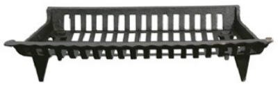 GHP CG27 27 in. Cast Iron Fireplace Grate, Black (Cast Iron Fireplace Grate 27)